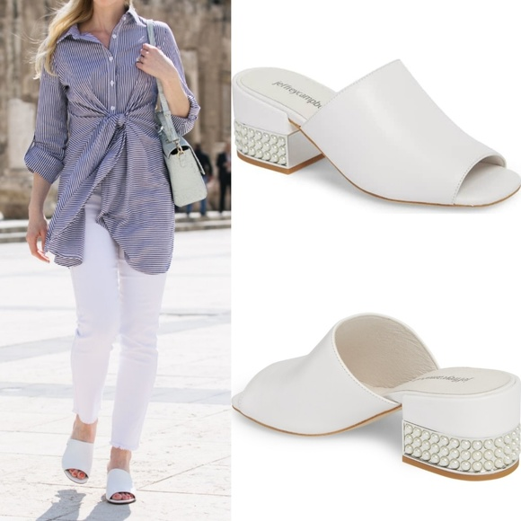 45aaec71f02a Jeffrey Campbell Shoes - JEFFREY CAMPBELL Tesedia JH Pearl Heeled Mule